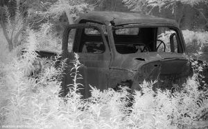 Evan Dickson - Hillcrest Farms Disc Golf - Abandoned Truck - September 2013-3198